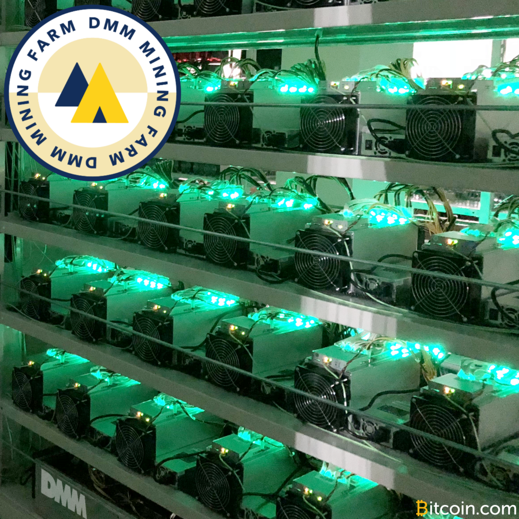 Japan's DMM Launches Large-Scale Cryptocurrency Mining Farm and Showroom
