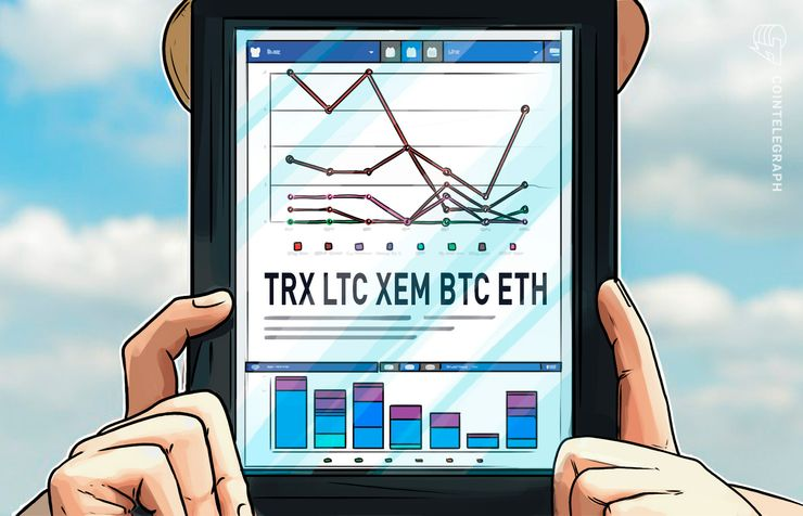 Top 5 Crypto Performers Overview: TRON, Litecoin, XEM, Bitcoin, Ethereum
